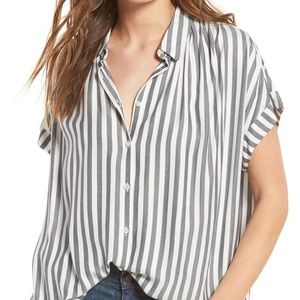 Madewell central shirt in stripe size S